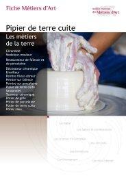 Pipier de terre cuite - Institut National des Métiers d'Art