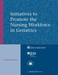 Initiatives to Promote the Nursing Workforce in Geriatrics