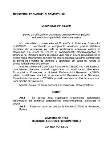 ministerul economiei si comertului - ACER-Asociatia pentru ...