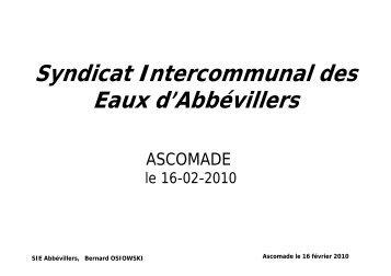 Syndicat Intercommunal des Eaux d'Abbévillers - Ascomade