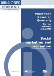 Social marketing - DrugInfo - Australian Drug Foundation
