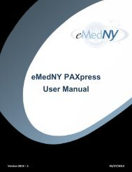 PAXpress User Manual - eMedNY