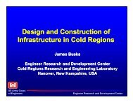Design and Construction of Infrastructure in Cold Regions - SAME ...