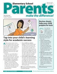 Parents make the difference!® (Elementary School ... - Sharyland ISD