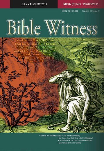 Call Into The Ministry - Bible Witness Media Ministry