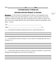 Directions: Use this checklist of learning goals to help you write ...