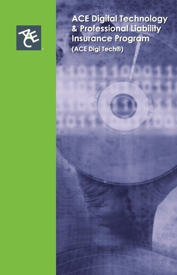 ACE Digital Technology & Professional Liability ... - ACE Group
