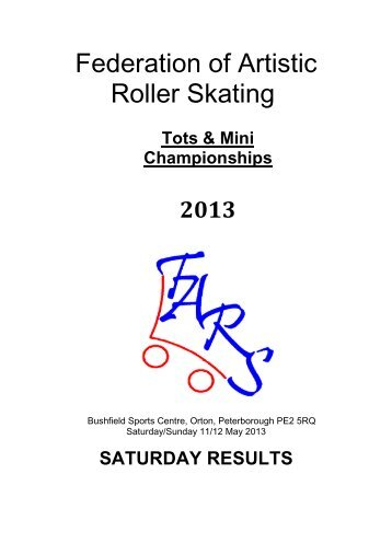 Results Tots & Minis Saturday - Federation of Artistic Roller Skating