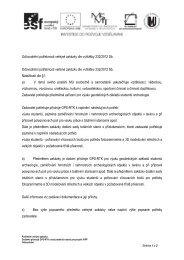 Odůvodnění potřebnosti veřejné zakázky dle vyhlášky ... - E-ZAK MUNI
