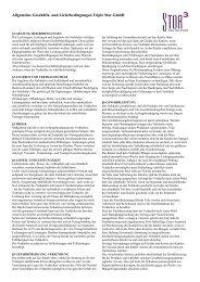Allgemeine Geschäfts- und Lieferbedingungen Triple Stor GmbH