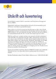 Utskrift och kuvertering - Posten Åland