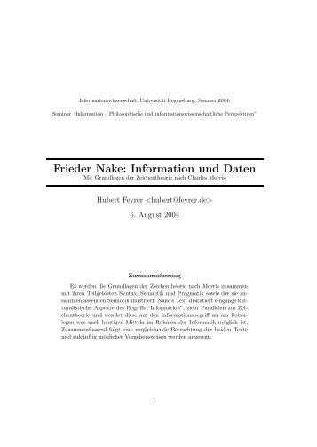 paper - Dr. Hubert Feyrer