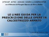 le linee guida per la prescrizione delle opere in calcestruzzo armato