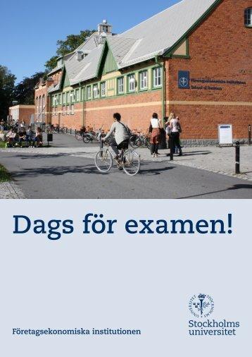 Dags för examen! - Företagsekonomiska institutionen - Stockholms ...