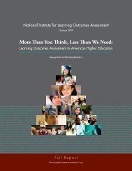 More Than You Think, Less Than We Need: - National Institute for ...