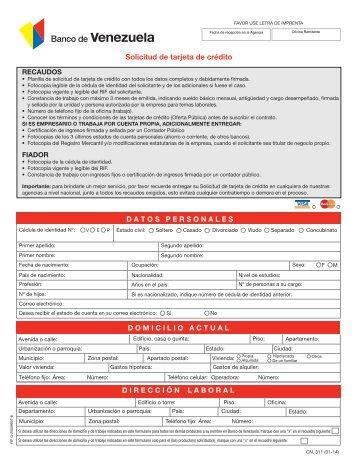 La corte procede a conceptuar sobre la solicitud for Banco de venezuela solicitud de chequera