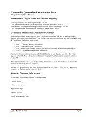 Community Quarterback Nomination Form - NFL.com