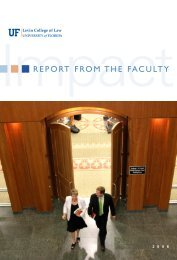 REPORT FROM THE FACULTY - Levin College of Law - University ...