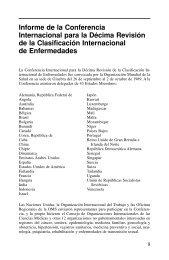 Informe de la Conferencia Internacional para la Décima Revisión de ...