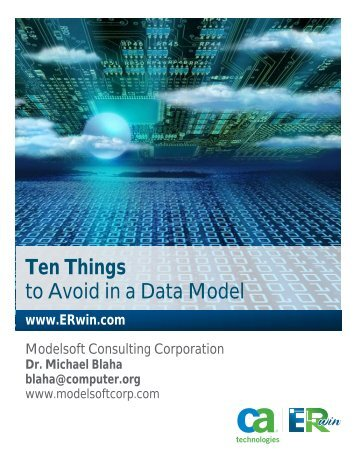 Ten Things to Avoid in a Data Model - CA ERwin