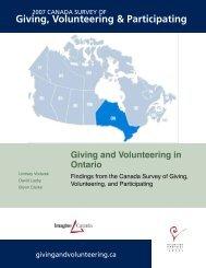 Giving and Volunteering in Ontario - English - Imagine Canada