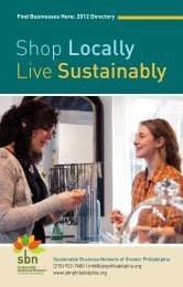 Shop Locally Live Sustainably - Sustainable Business Network