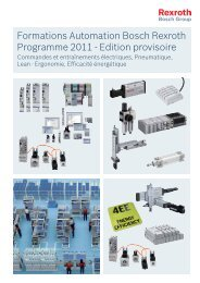 Catalogue Formations - Bosch Rexroth