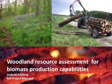 Woodland resource assessment for biomass production capabilities