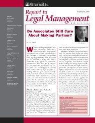 Do Associates Still Care About Making Partner? - Altman Weil