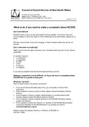 What to do if you want to make a complaint about NCOSS Council of ...