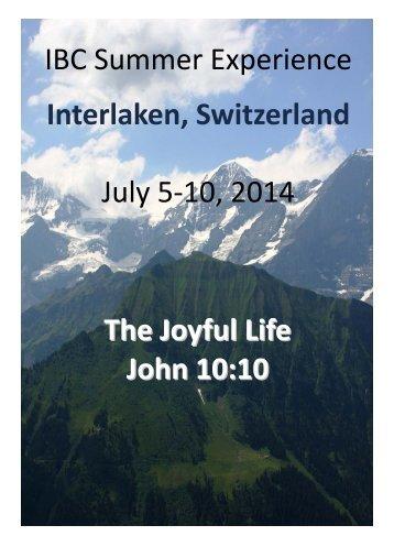 program booklet - International Baptist Convention