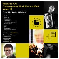 Peninsula Arts Contemporary Music Festival 2008 Voices III