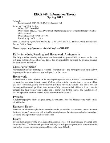 EECS 969, Spring 2011 Syllabus