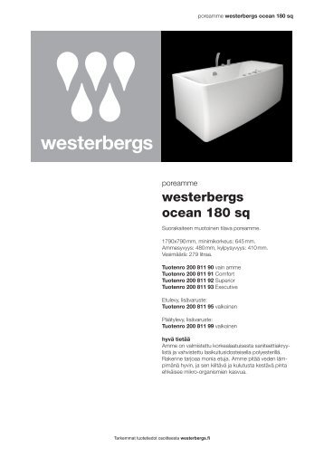 westerbergs ocean 180 sq - Westerbergsiltä