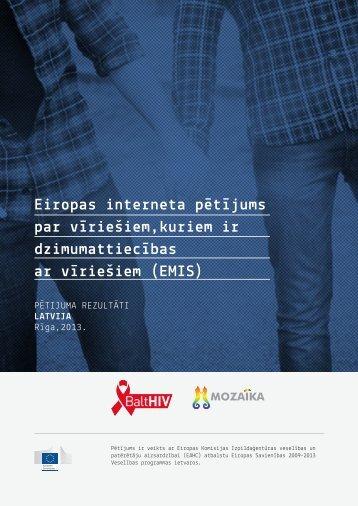 Eiropas interneta pētījums par vīriešiem,kuriem ir ... - EMIS