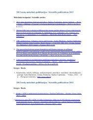 2013 metų mokslinės publikacijos - Saulius Čaplinskas