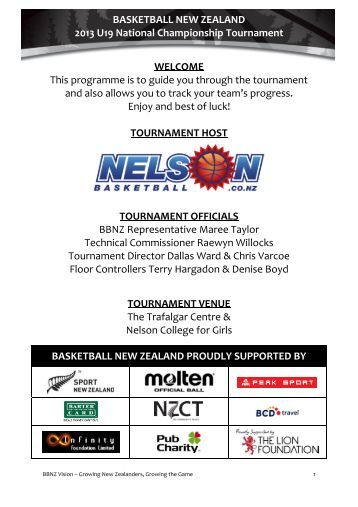 2013 U19 National Championship Tournament Programme