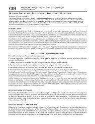 Guidance Document I - American Wood Protection Association