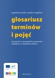 Angielsko-polski i polsko-angilski glosariusz terminów ... - Erasmus