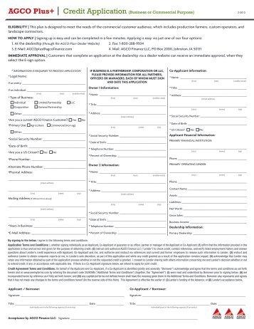 Printable Application - AGCO Parts