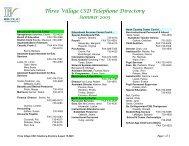 Three Village CSD Telephone Directory Summer 2003