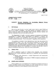 Administrative Order No. 2007-0025 - DOH