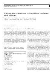 Minimum loss multiplicative routing metrics for ... - GTA - UFRJ