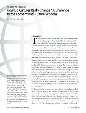 How Do Cultures Really Change? A Challenge to the Conventional ...