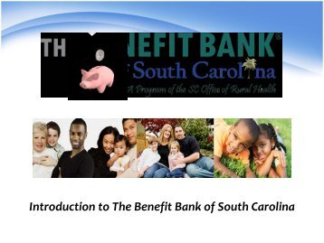 Benefit Bank of South Carolina - South Carolina Institute of Medicine ...
