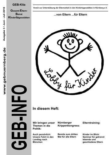 In diesem Heft: - GEB- Kita Nürnberg