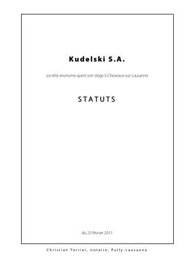 TITRE III Organisation de la société A - Kudelski Group