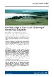 Grundfos pumps in world-leader Rain Bird golf- course irrigation ...