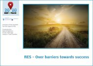 RES - Over barriers towards success - Sero