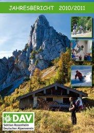 Jahresbericht 2010/2011 - Sektion Rosenheim